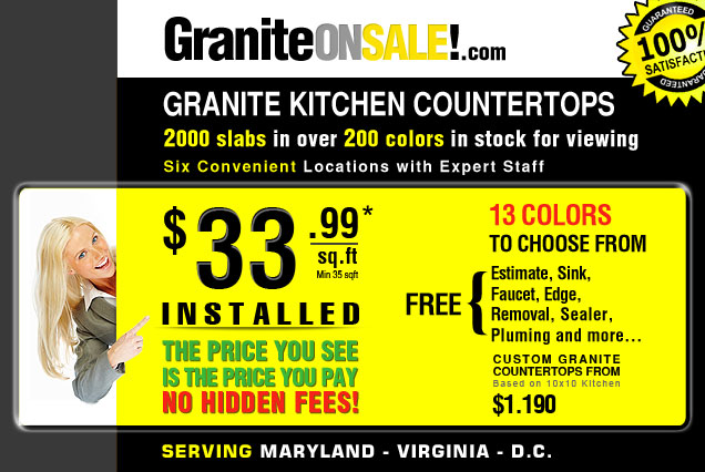Granite Countertops Sale : granite countertops sale VA, MD, DC